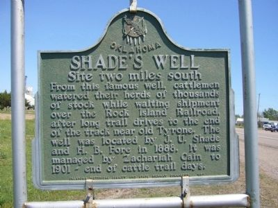 Shade's Well Marker image. Click for full size.