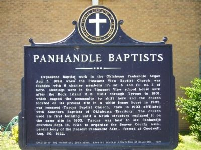 Panhandle Baptists Marker image. Click for full size.