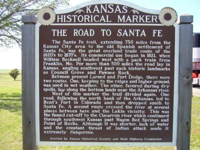 The Road to Santa Fe Marker image. Click for full size.