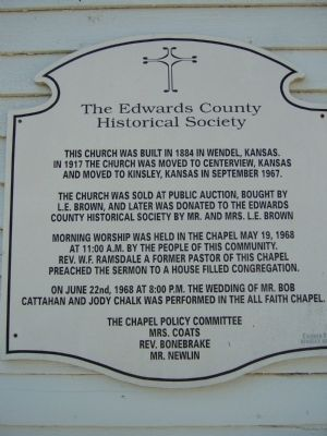 The Edwards County Historical Society Marker image. Click for full size.