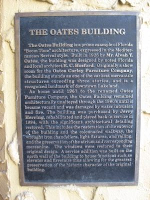 The Oates Building Marker image. Click for full size.