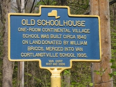 Old Schoolhouse Marker image. Click for full size.