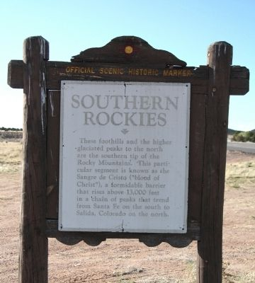 Southern Rockies Face of Marker image. Click for full size.