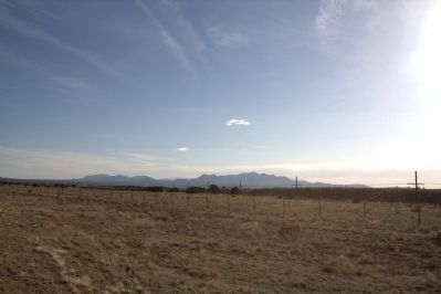 View of the Southern Rockies from Route 41 in the Galisteo Basin image. Click for full size.