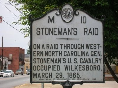 Stoneman's Raid Marker image. Click for full size.