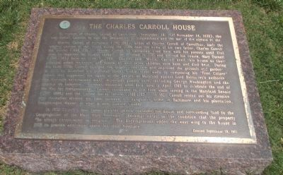 The Charles Carroll House Marker image. Click for full size.