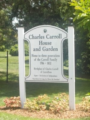 The Charles Carroll House Sign image. Click for full size.