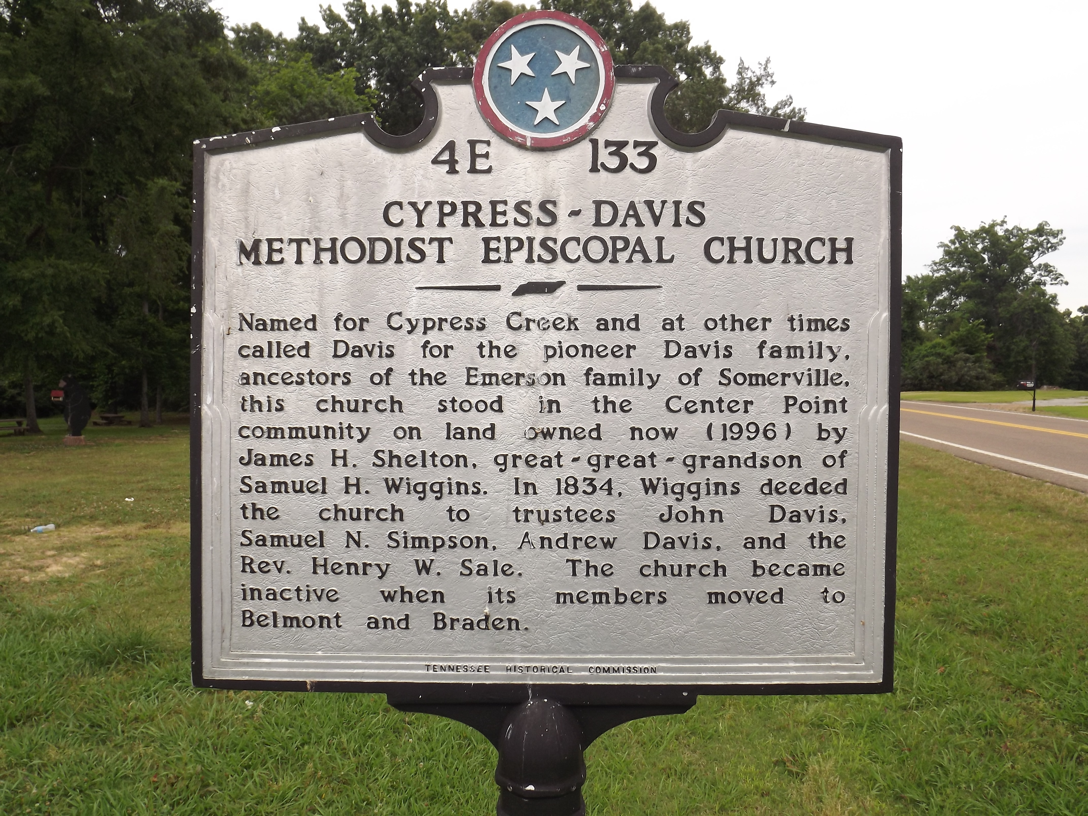 Cypress - Davis Methodist Episcopal Church Marker