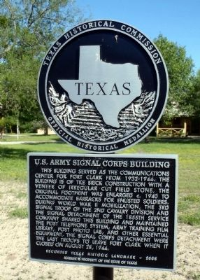 U.S. Army Signal Corps Building Marker image. Click for full size.