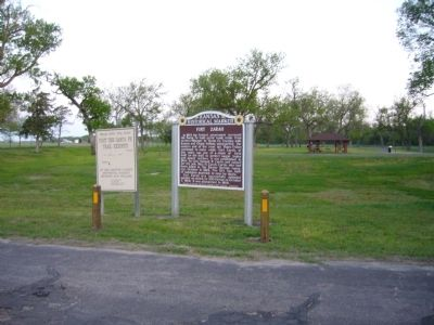 Fort Zarah Marker image. Click for full size.