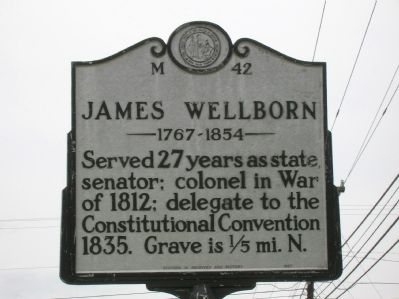 James Wellborn Marker image. Click for full size.