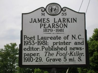 James Larkin Pearson Marker image. Click for full size.