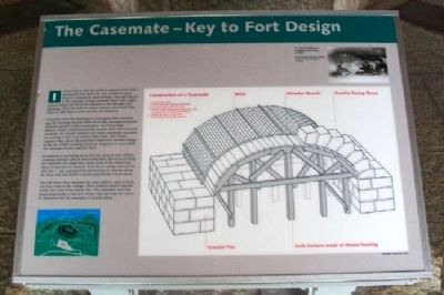 The Casemate - Key to Fort Design Marker image. Click for full size.