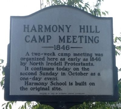 Harmony Hill Camp Meeting Marker image. Click for full size.