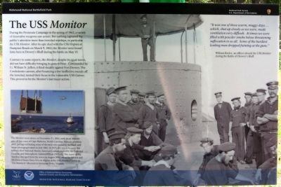 The USS <i>Monitor</i> Marker image. Click for full size.