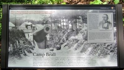 Camp Beall Marker image. Click for full size.