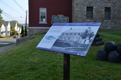 Both Fort Johnstown Markers image. Click for full size.