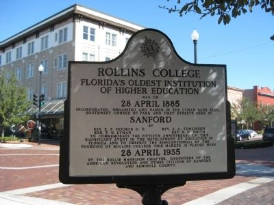 Rollins College Marker image. Click for full size.