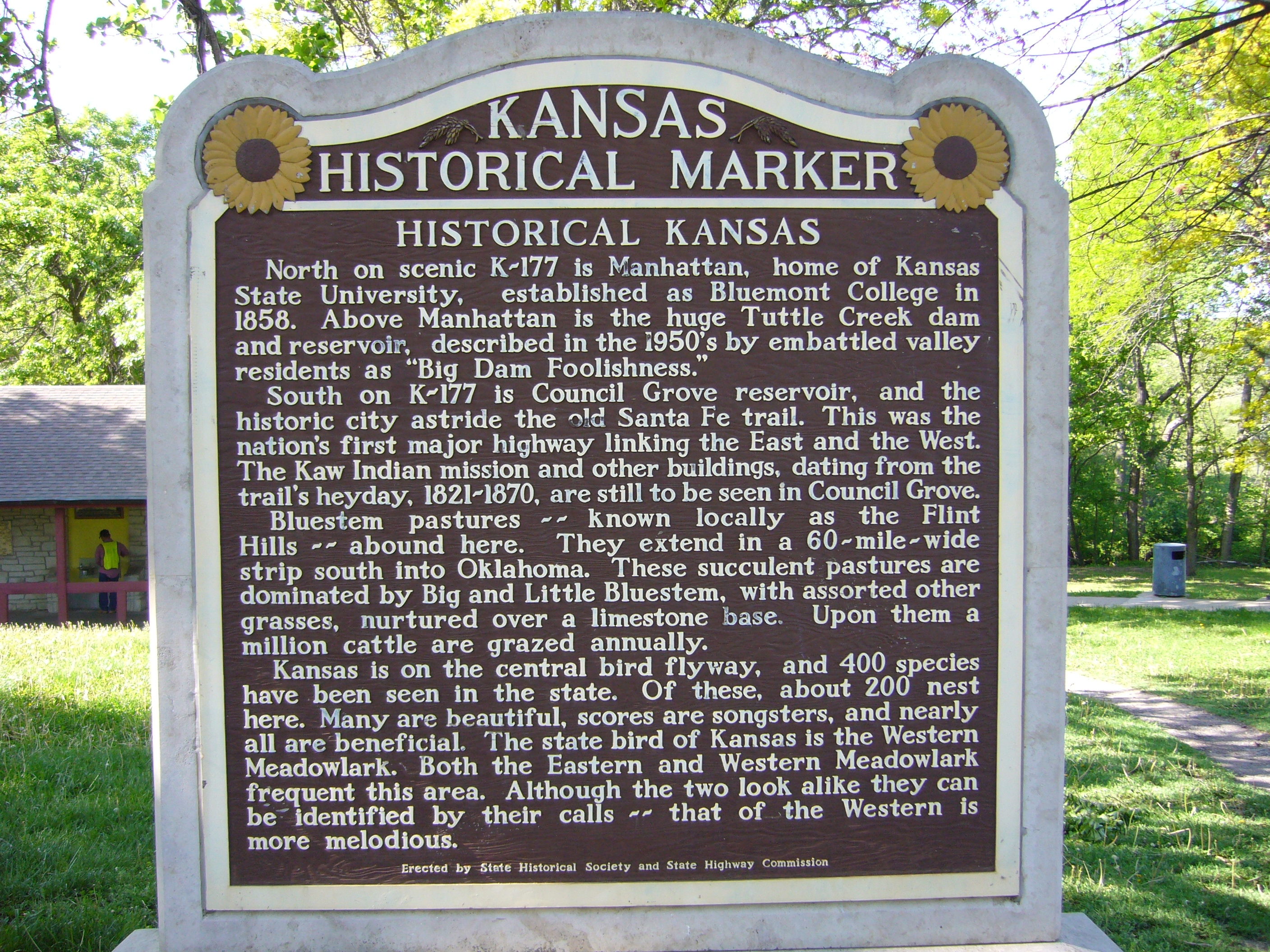 Historical Kansas Marker
