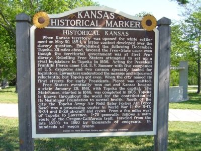 Historical Kansas Marker image. Click for full size.