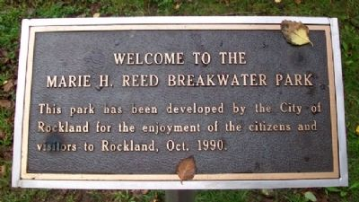 Marie H. Reed Breakwater Park Marker image. Click for full size.