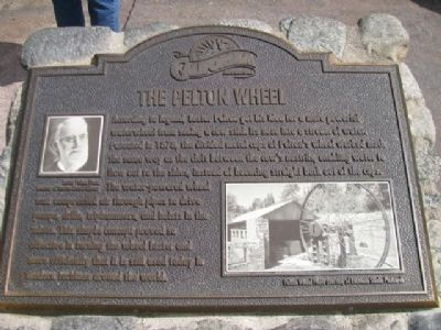 The Pelton Wheel Marker image. Click for full size.