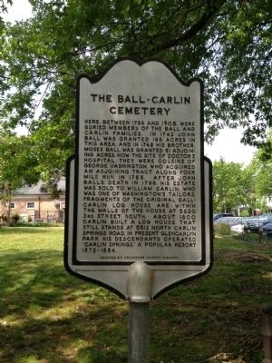 The Ball-Carlin Cemetery Marker image. Click for full size.
