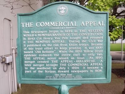 The Commercial Appeal Marker image. Click for full size.