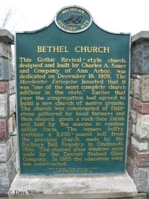 Bethel Church Marker Side 2 image, Touch for more information
