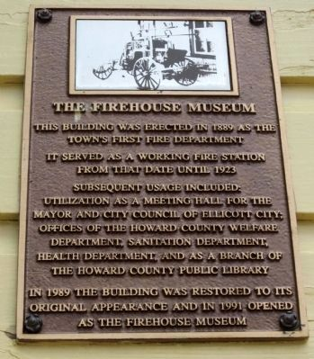 The Firehouse Museum Marker image. Click for full size.