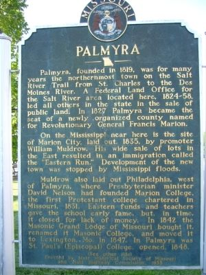 <i>Side A;</i> Palmyra Marker image. Click for full size.