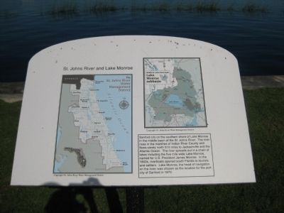 St. Johns River and Lake Monroe Marker image. Click for full size.