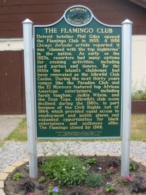 The Flamingo Club Marker image. Click for full size.