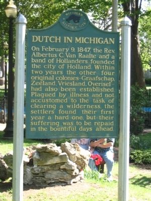 Dutch in Michigan Marker image. Click for full size.