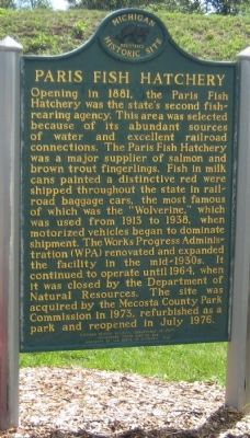 Paris Fish Hatchery Marker image. Click for full size.