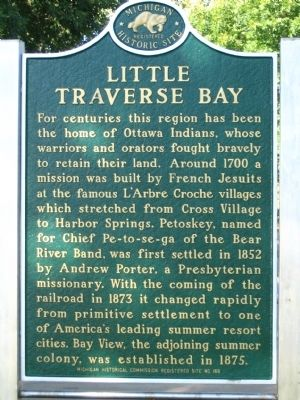 Little Traverse Bay Marker image. Click for full size.