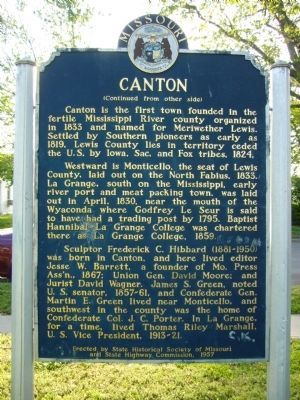 <i>Side B:</i> Canton Marker image, Touch for more information
