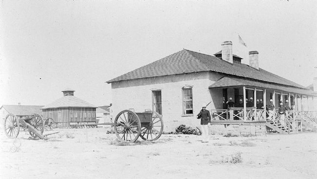 Historic view of Fort Clark's Guardhouse image. Click for full size.