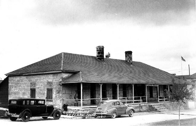 20th century historic view of Fort Clark's Guardhouse image. Click for full size.