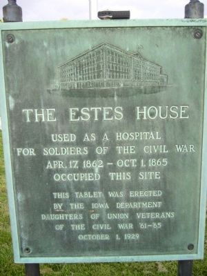 The Estes House Marker image. Click for full size.