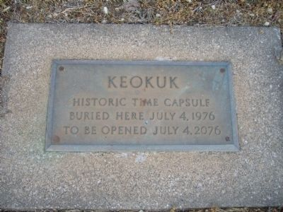 Historic Time Capsule at base of marker image. Click for full size.