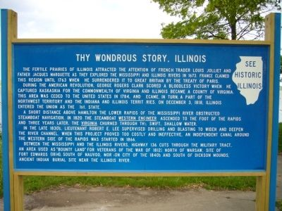 Thy Wondrous Story, Illinois Marker image. Click for full size.