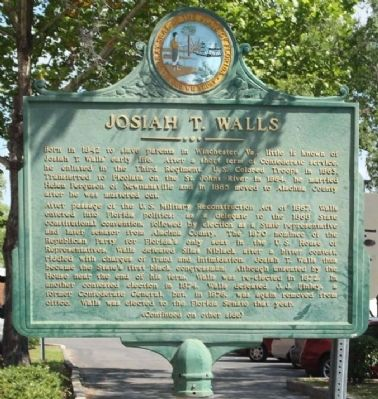 Josiah T. Walls Marker image. Click for full size.
