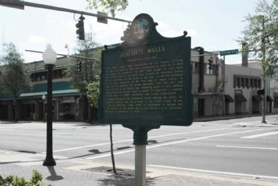 Josiah T. Walls Marker along W University Avenue image. Click for full size.