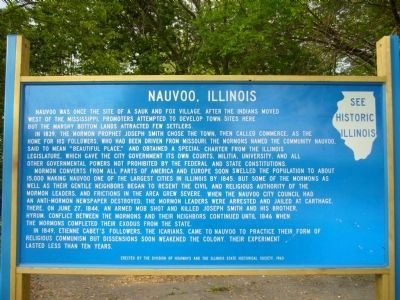 Nauvoo, Illinois Marker image. Click for full size.