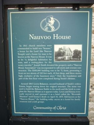 Nauvoo House Marker image. Click for full size.