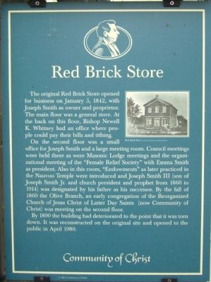 Red Brick Store Marker image. Click for full size.