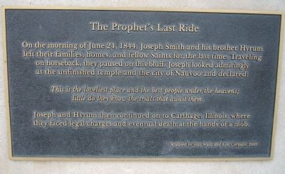 The Prophet's Last Ride Marker image. Click for full size.