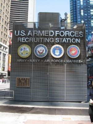 Medal of Honor Recipients Marker on the U.S. Armed Forces Recruiting Station image. Click for full size.