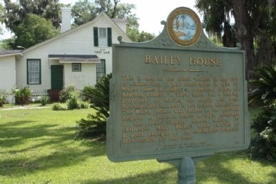 The Bailey House and Marker image. Click for full size.